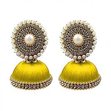 Yellow Beads Earrings
