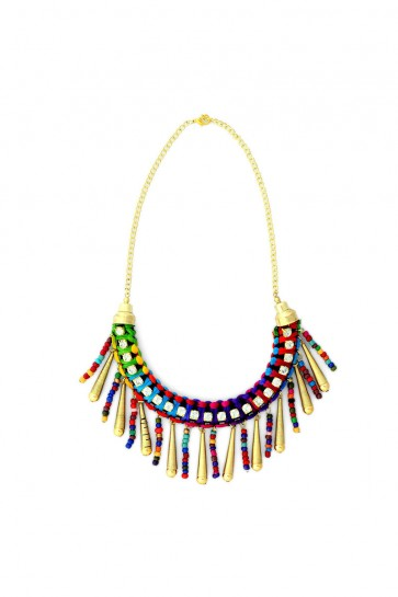 Beads And Stones Multicolor Necklace