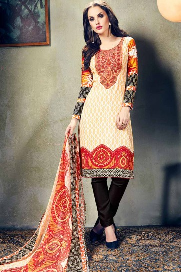 Cream European Wool Salwar Kameez