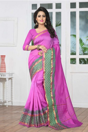 Light Purple color Banarasi Art Silk Saree