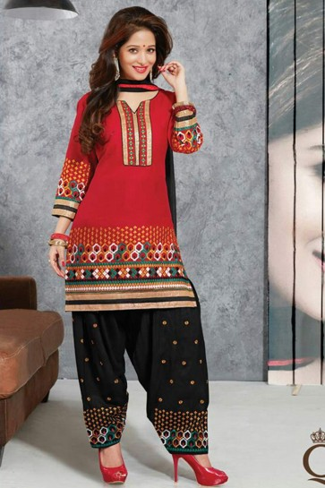 orange Pure Cotton lown Patiala Suit